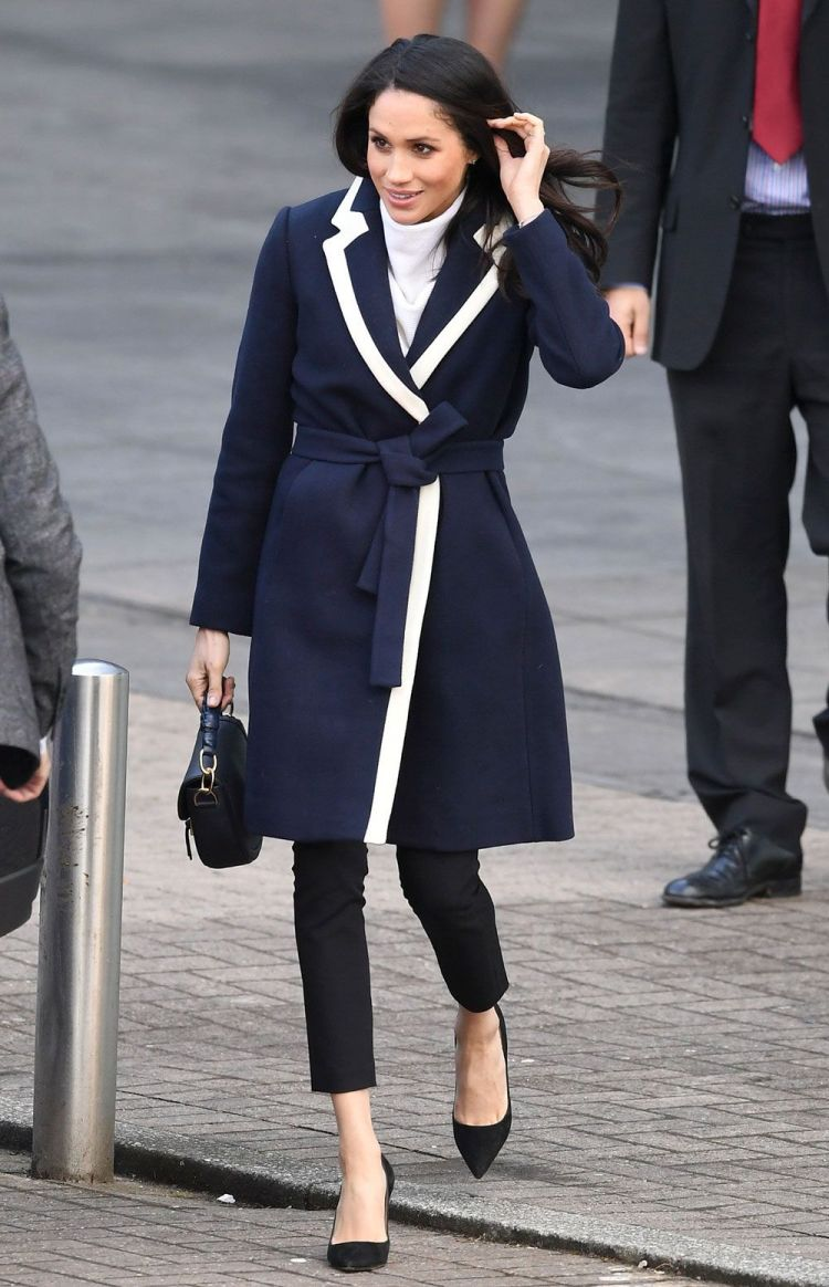 Megan Markle Navy Coat